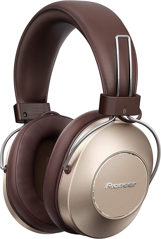 Pioneer S9 Auriculares over-ear Bluetooth (asistente de voz, NFC, cancelación de ruido, 24h de batería) color oro
