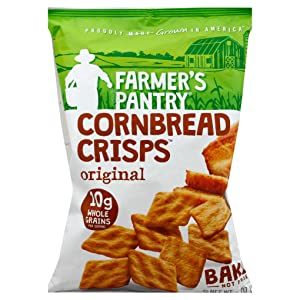 Farmer's Pantry Original Cornbread Crisps, Original, 6 Ounce (Pack of 2)