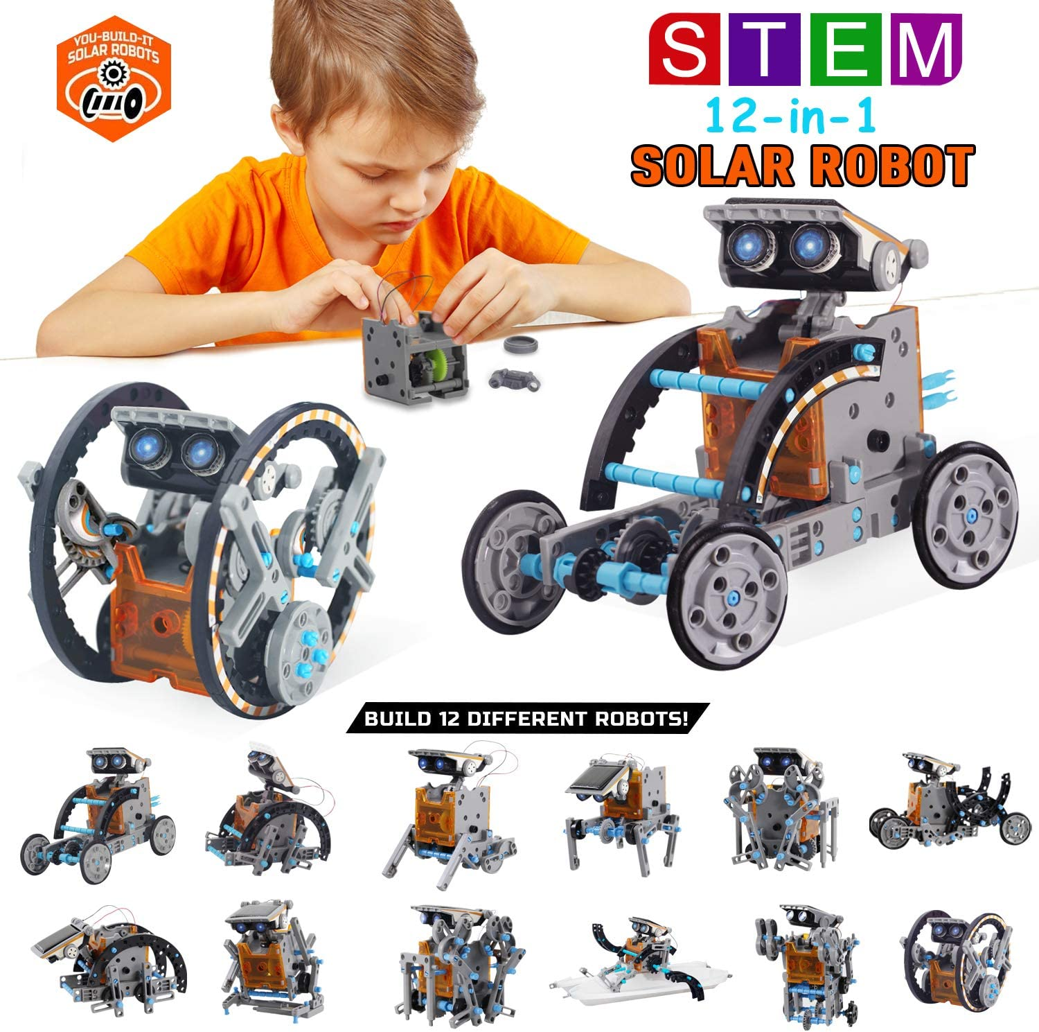 Free Amazon Promo Code 2020 for 12-in-1 STEM Education DIY Solar Robot Toys