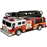 "Toy State 14"" Rush And Rescue Police And Fire - Hook And Ladder Fire Truck"