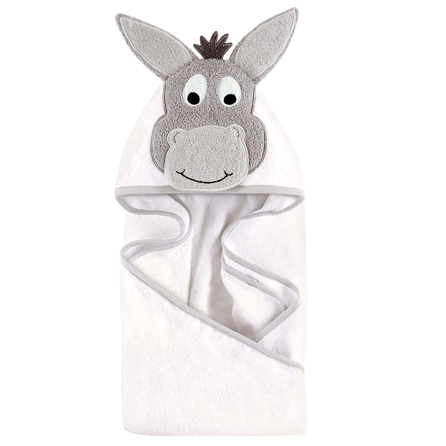 Hudson Baby Animal Face Hooded Towel, Cool Chick 57060_CoolChick