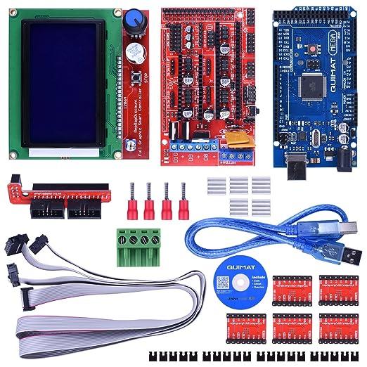 9 opinioni per Quimat 3D Printer Controller Kit for Arduino Mega 2560 Starter Kits +RAMPS 1.4 +