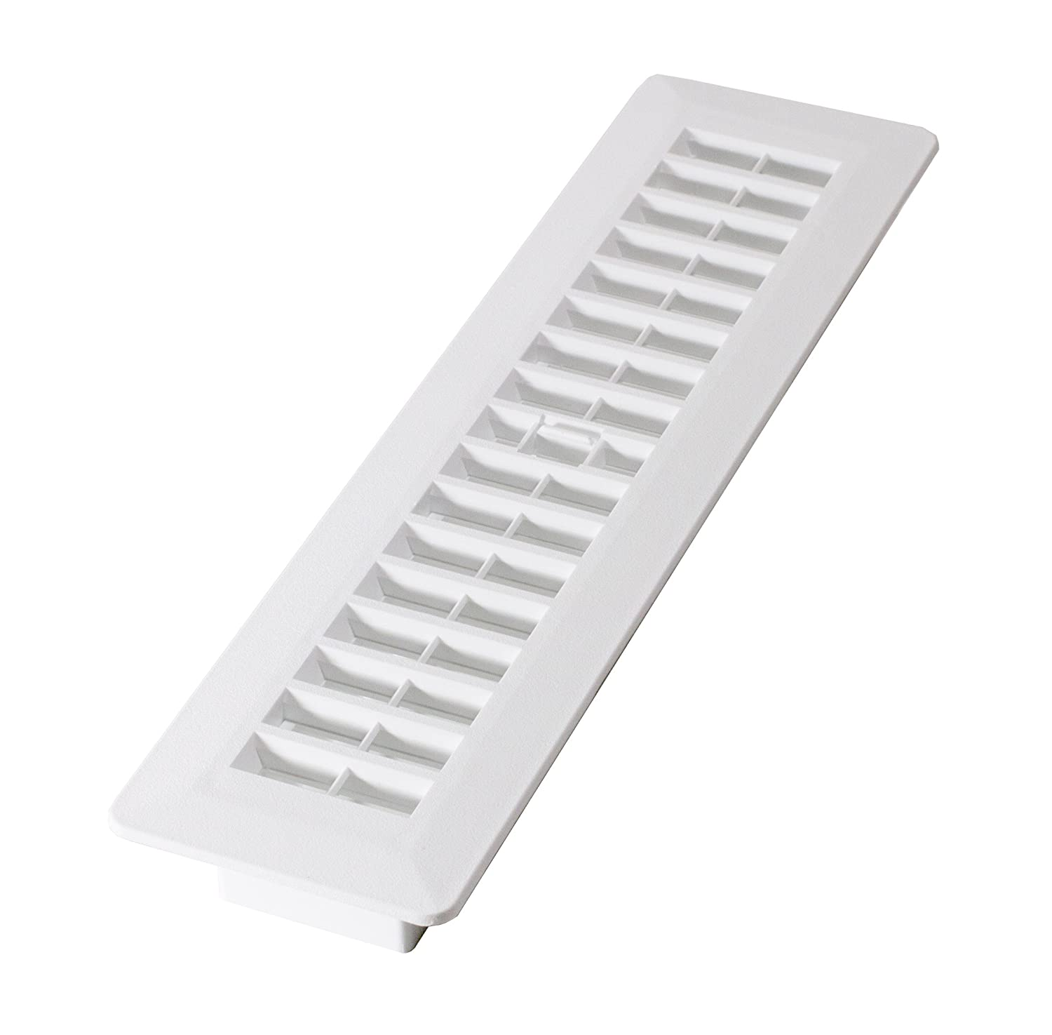 Decor Grates PL212-WH 2-Inch by 12-Inch Plastic Floor Register, White