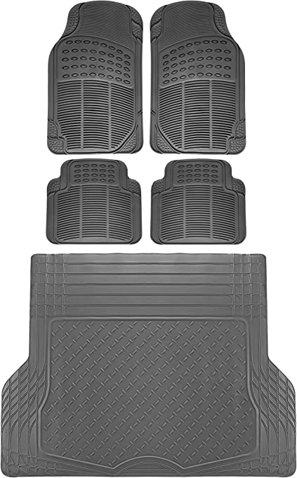 5pce Rubber Car Mats /& Rubber Boot Trunk Liner Mat For BMW X6