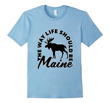 81VEqMDNVBL._UX385_ amazon com maine moose the way life should be dark version gift t