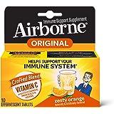 AIRBORNE Zesty橙色泡腾片 10粒 - 1000毫克维生素C - 身体防疫支持补充剂