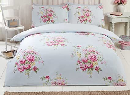 Kate Cotton Flannelette King Quilt Duvet Cover And 2 Pillowcases