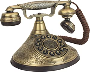 Design Toscano PM1935 Antique Phone - Versailles Palace 1935 Rotary Telephone - Corded Retro Phone - Vintage Decorative Telephones,Bronze