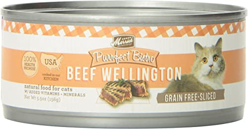 Merrick Purrfect Bistro Grain Free Beef Wellington Canned Cat Food, 5.5 oz, Case of 24