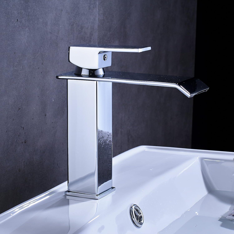 Rozin Deck Mount Single Hole Bathroom Vessel Sink Faucet One Handle ...