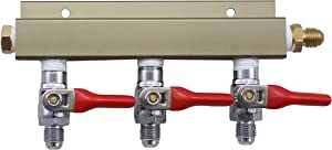 The Weekend Brewer 3-way MFL CO2 Distributor Manifold with integrated check valves