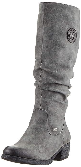 Rieker Damen Stiefel grau 96054 45