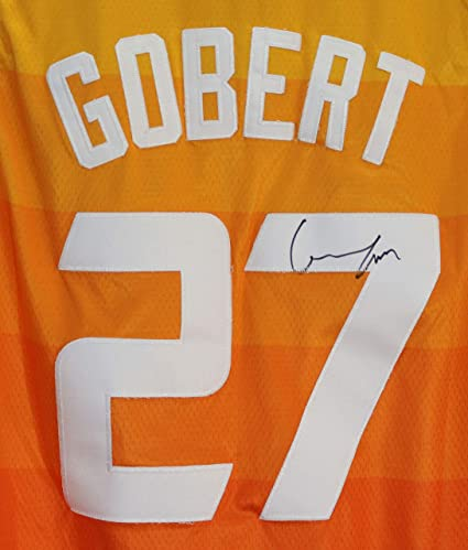 Rudy Gobert Utah Jazz Signed Autographed City Edition  27 Jersey at ... 527d75304