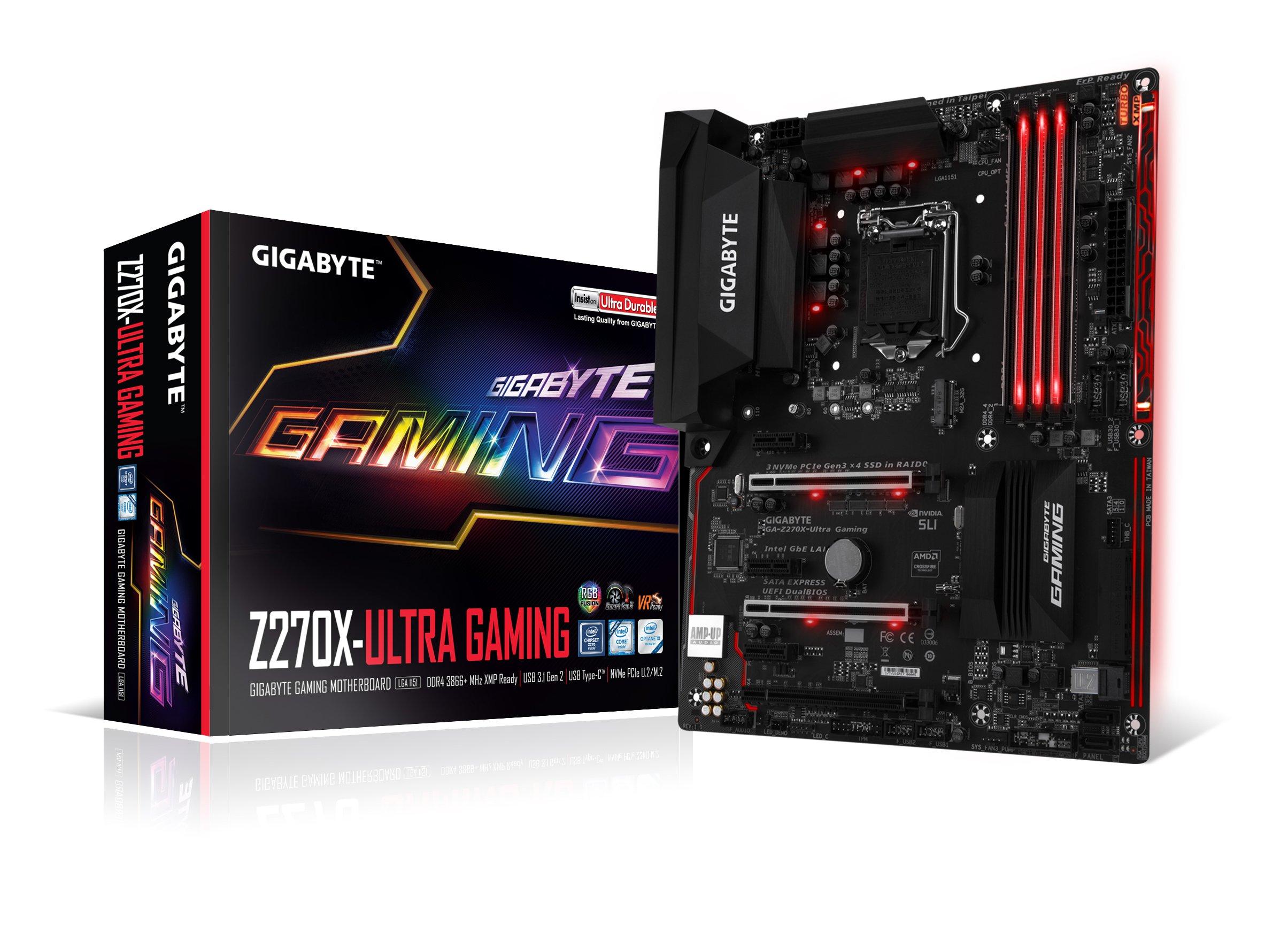 GIGABYTE GA-Z270X-Ultra Gaming LGA1151 Intel 2-Way SLI ATX DDR4 Motherboard by Gigabyte