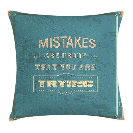 FGJGHKG Funda de cojín motivadora, diseño Vintage, Frase ...