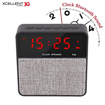 Xcellent Global Alarm Clock with Wireless Bluetooth Speaker Hand