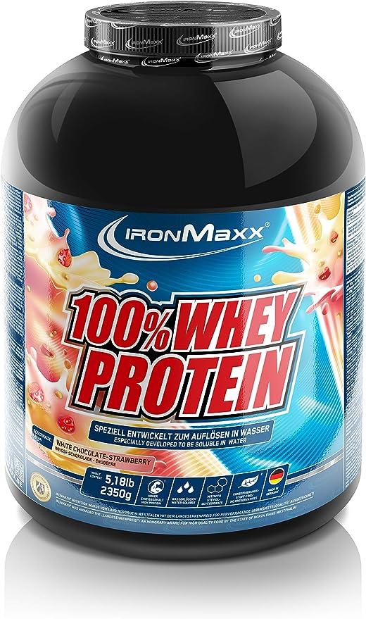 IronMaxx Ironmaxx Sabor Fresa Y Chocolate Blanco 100% Polvo Proteína De Suero 2.35 Kg En Lata 2350 g