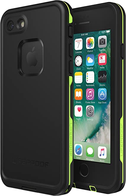 Amazon Com Lifeproof Frē Series Waterproof Case For Iphone Se 2nd Gen 2020 And Iphone 8 7 Not Plus Retail Packaging Night Lite Black Lime