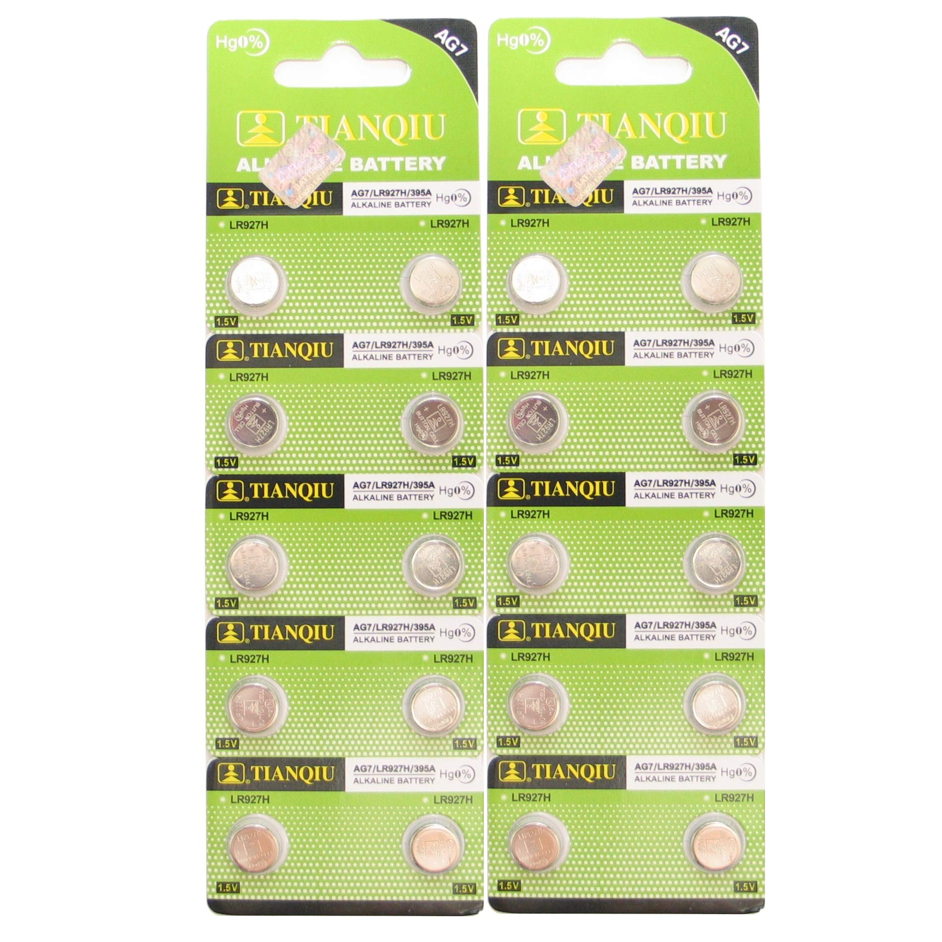 AG7 395A LR927 SR927SW LR57 SR927 Button Cell Batteries [20-Pack]