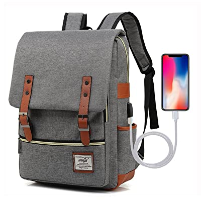 73f8199aa2e9 Adual Casual Laptop Backpack with USB Charging Port