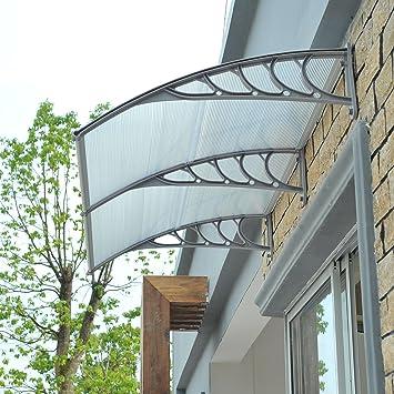 Eight24hours 40u0027u0027 X 80u0027u0027 Patio Door Window Awning Canopy Cover  Polycarbonate Rain
