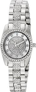 Bulova womens Quartz Watch, analog Display and Stainless Steel Strap 96L253