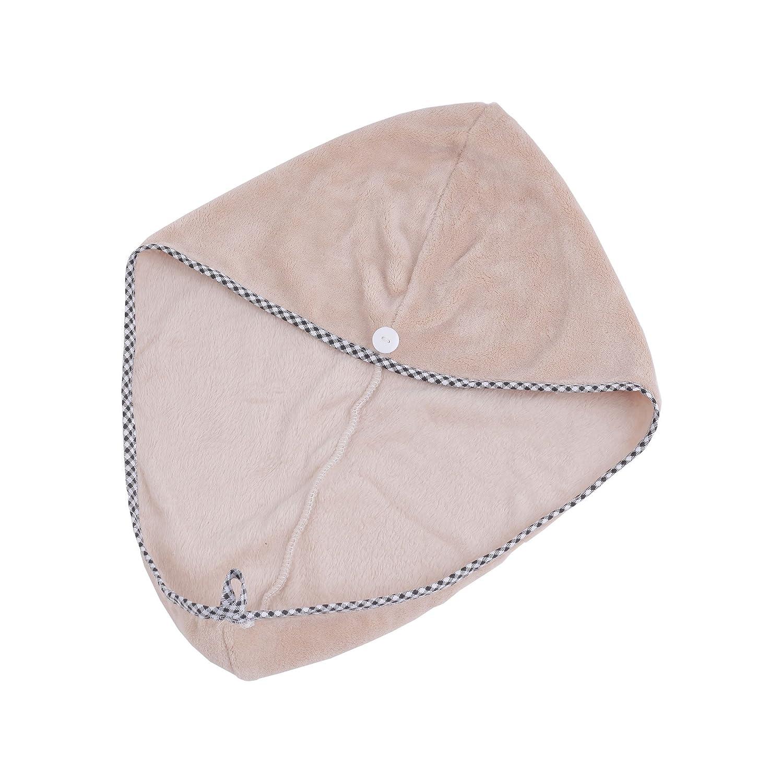 Fengding Haar Trockentuch Nach Bad, Frauen Bad Hair Turban/Badetuch/Twist Hair Wrap, saugfähiger Mikrofaser Bad Dry Handtuch, Optional 4Farben, fd9-dhc01, Rose, 54 * 40cm Optional 4Farben
