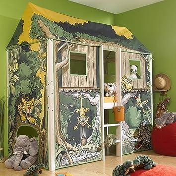 Thuka Flexa 4 Dreams Hochbett Kinderbett Spielbett Dschungelhaus Inkl Lattenrost Matratze