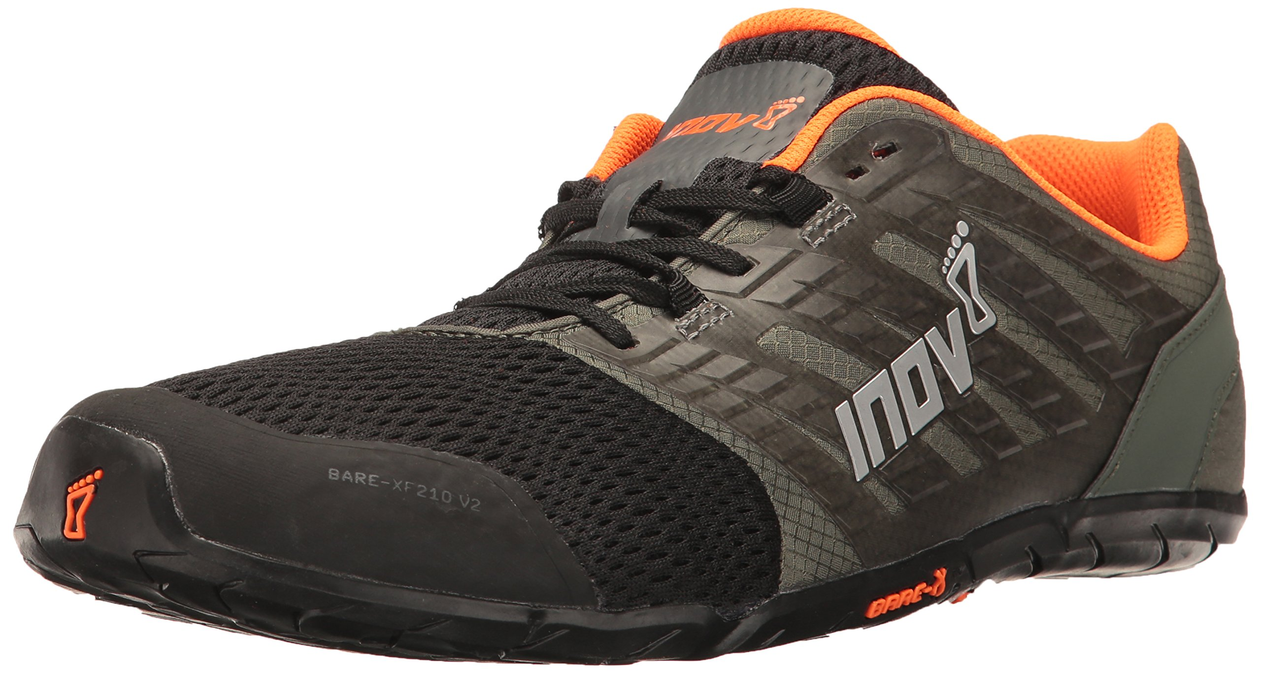 Inov-8 Men's Bare-XF 210 v2 (M) Cross Trainer Grey/Black/Orange 9 D US by Inov-8 (Image #1)