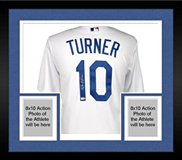 Framed Justin Turner Los Angeles Dodgers Autographed Majestic White Replica  Jersey - Fanatics Authentic Certified 46f77da7f