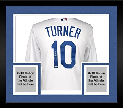 pretty nice 52269 e8b96 Framed Justin Turner Los Angeles Dodgers Autographed ...