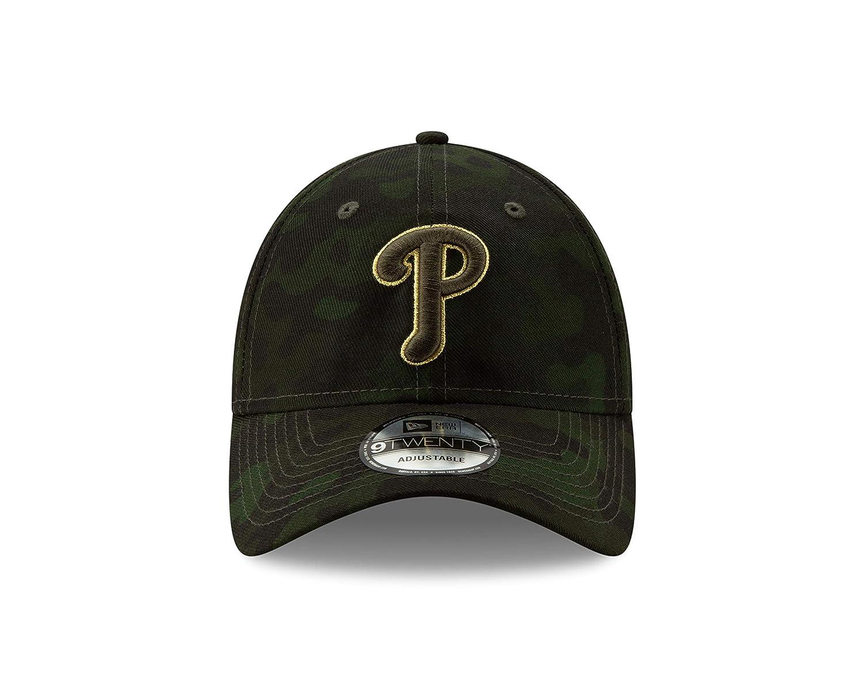 promo code c5547 fc0f3 Amazon.com   New Era Philadelphia Phillies 2019 MLB Armed Forces Day  9TWENTY Adjustable Hat - Camo   Sports   Outdoors