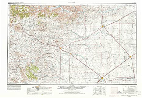 Amazon.com : YellowMaps Dalhart TX topo map, 1:250000 Scale, 1 X 2 on