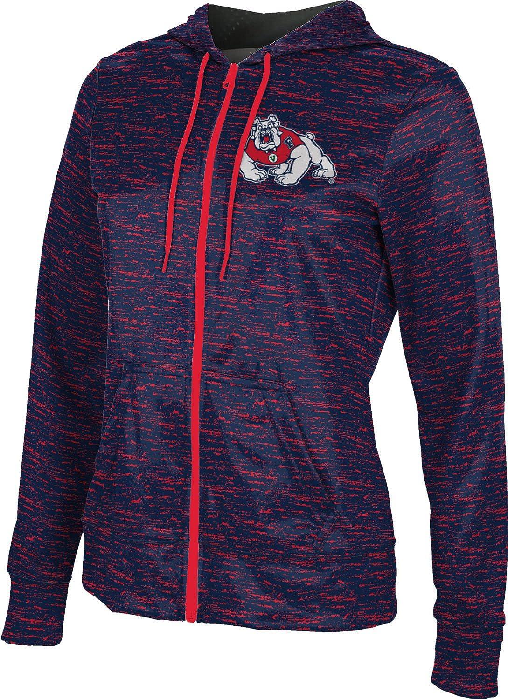 Fresno State University Girls Zipper Hoodie Brushed School Spirit Sweatshirt
