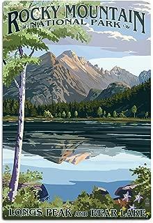 product image for Lantern Press Rocky Mountain National Park, Colorado, Longs Peak and Bear Lake Summer (12x18 Aluminum Wall Sign, Wall Decor Ready to Hang)