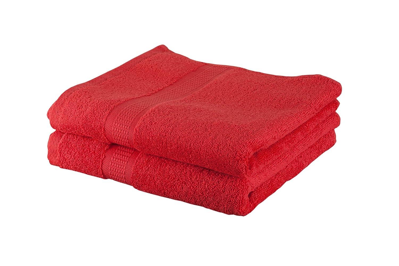 Buscher 20214230 - Juego de toallas de mano (2 unidades), color rojo Textilveredelungs- und Service GmbH