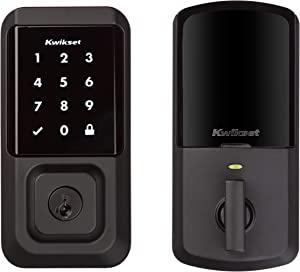 Kwikset 99390-004 Halo Wi-Fi Smart Lock Keyless Entry Electronic Touchscreen Deadbolt Featuring SmartKey Security, Iron Black