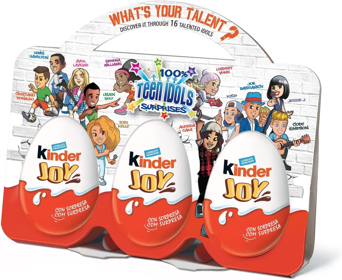 KINDER Joy huevo sorpresa chocolate 3X60 GR: Amazon.es ...