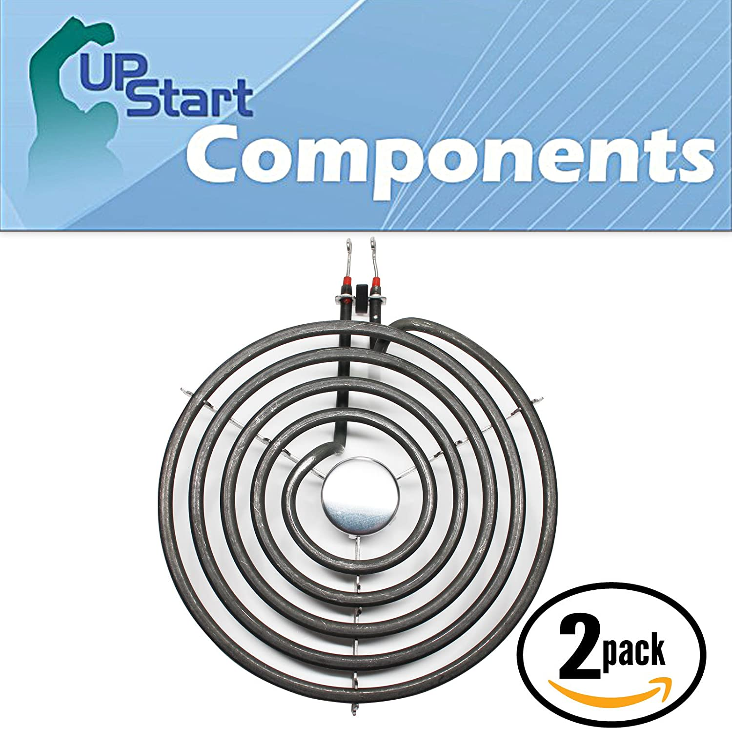 2-Pack Surface Burner 8 inch 5 Turns Element Replacement for Jenn-Air, Amana, Whirlpool - Compatible with Jenn-Air A100, Amana ARR6400WW, Jenn-Air A100B, Maytag CRE7500ACW, Whirlpool RF263LXTQ3