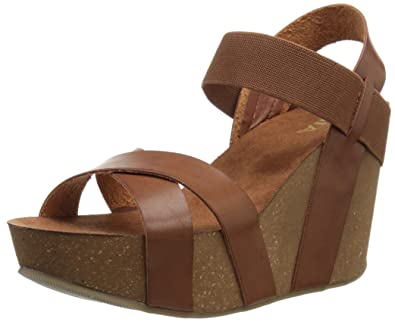 61e4cdec7f6 MIA Women s Joy Wedge Sandal Cognac 8.5 ...