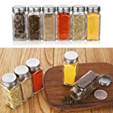 Aozita 24 Pcs Glass Spice Jars/Bottles - 4oz
