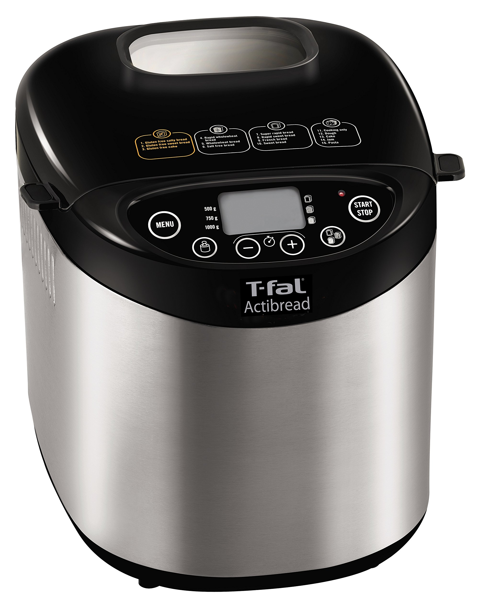 T-fal PF311E ActiBread Programmable Bread Machine Stainless Steel Housing Nonstick Coating Automatic Bread Maker with LCD Display, 2-Pound, Silver by T-fal (Image #7)