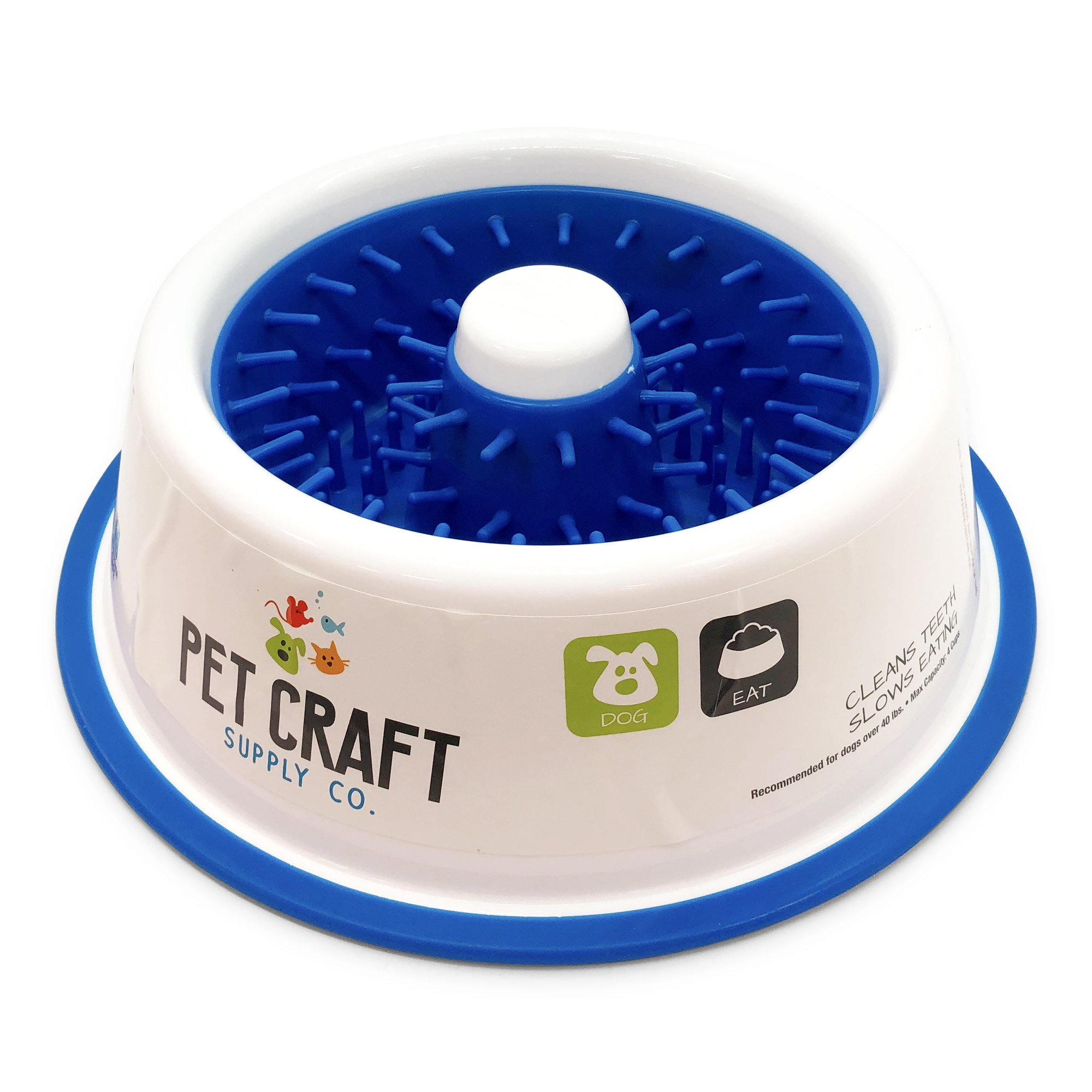 Pet Craft Supply 2225 Teeth Cleaning Slow Feeding Dog Bowls, Large