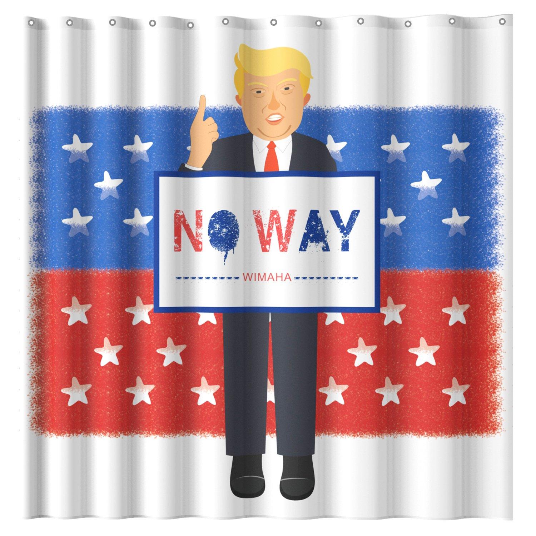Wimaha Shower Curtain Fabric, Mischievous Donald John Trump