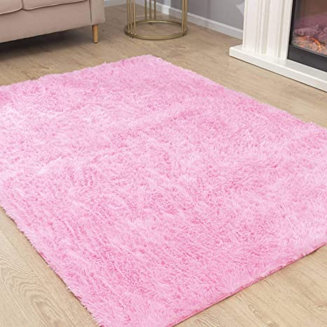 Khaki Carvapet Super Soft Shaggy Area Rugs for Bedroom Living Room Modern Fluffy Carpet for Nursery Baby Rooms Kids Rooms Silky Smooth Mat 2.3 x 5