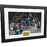 クリスティアーノ・ロナウド 12×8 A4サイズサイン付き オーバーヘッドキックでゴール -ユヴェントス 0 対 リアルマドリード 3 -サイン入り写真 写真フレーム サッカーのギフト