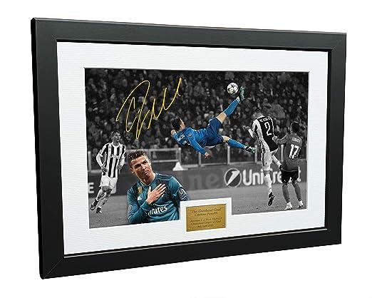 KICKS Cristiano Ronaldo - Marco de Fotos autografiado, 12 x 8 cm ...