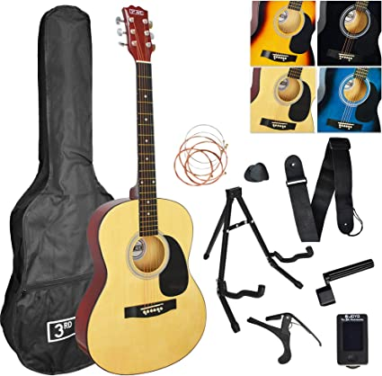 3rd Avenue Pack de guitarra acústica, Natural, Acústico, Pack Premium: Amazon.es: Instrumentos musicales