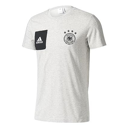 Adidas DFB tee Staff Camiseta Equipación Federación Alemana de Fútbol, Hombre, Gris (Brgrin