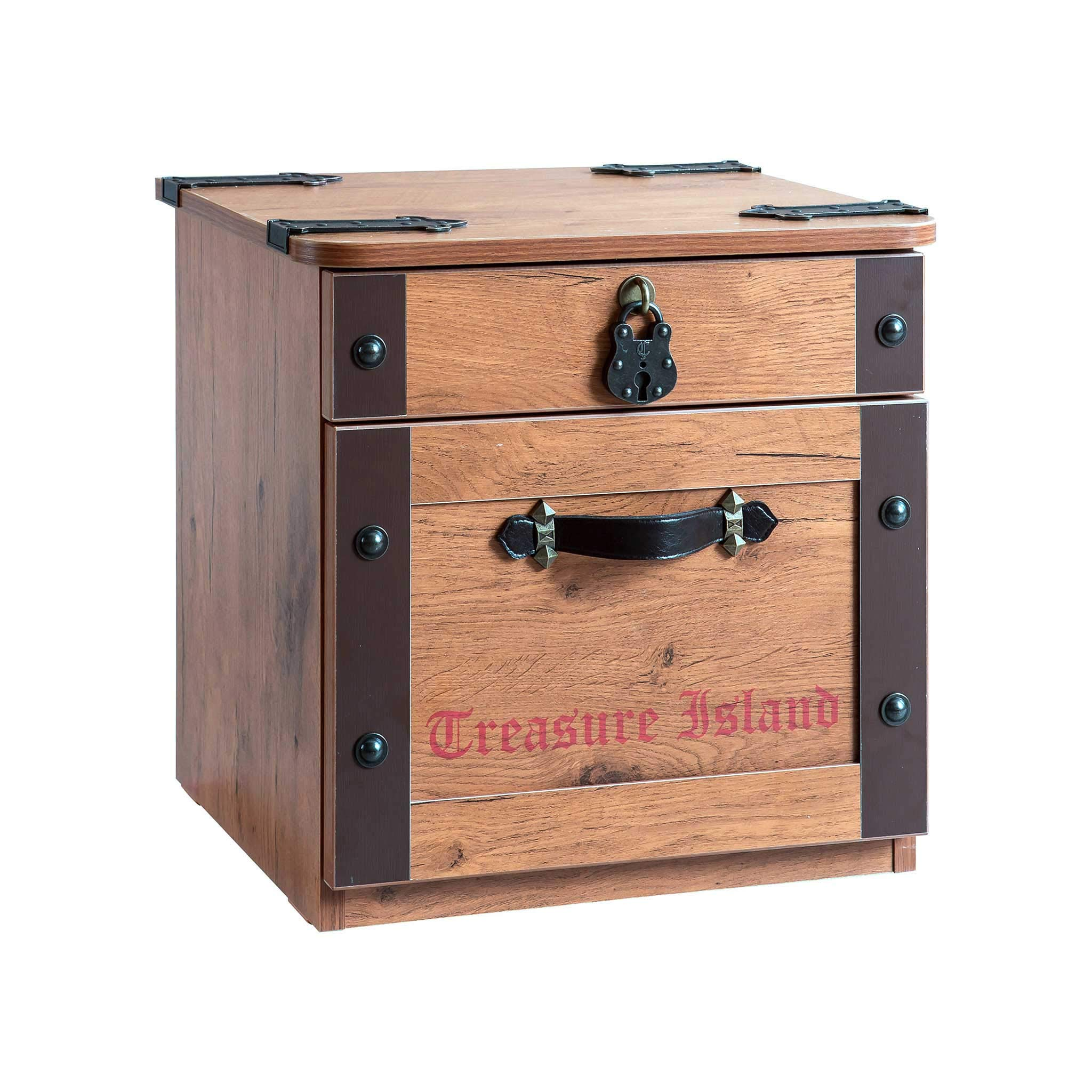 Cilek Pirate Nightstand Side Table Childrens Nightstand Brown
